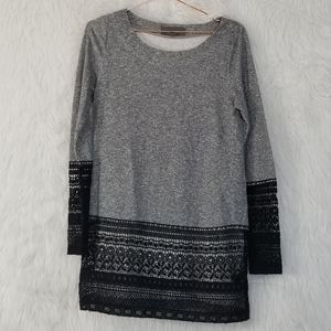 Sunday in Brooklyn Recessed Lace Sweatshirt S Gray